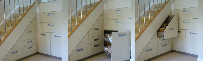 Bespoke Under Stairs Shelving: Richard Hill Interiors (UK) Bespoke Under Stair